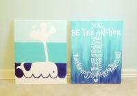 beach themed canvas paintings. | d i y . | Pinterest | Craft