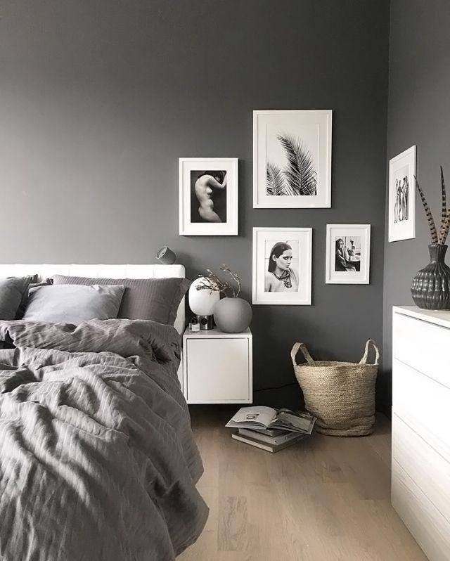 20 прекрасных интерьеров с черными стенами | bedrooms, wall decor