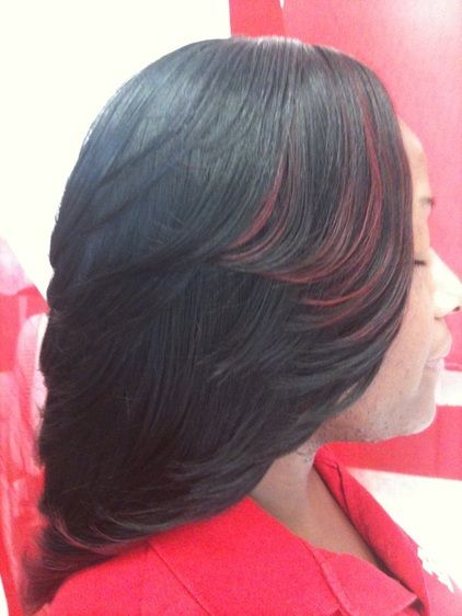 Weave Cut In Layers Sew In Weave Bob Hairstyles With Bangs