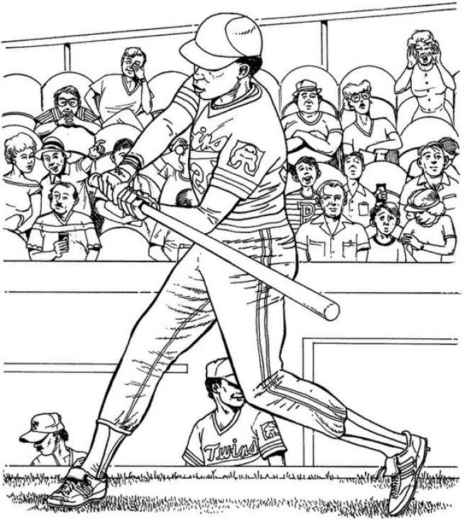 Major League Baseball Game Coloring Page