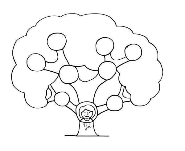 Árbol genealógico: dibujos para colorear e imprimir