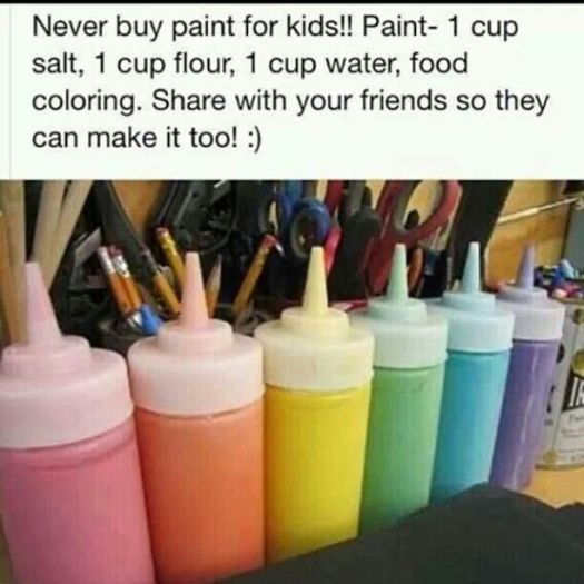 Easy Diy Paint All You Need Is Salt Flour Water