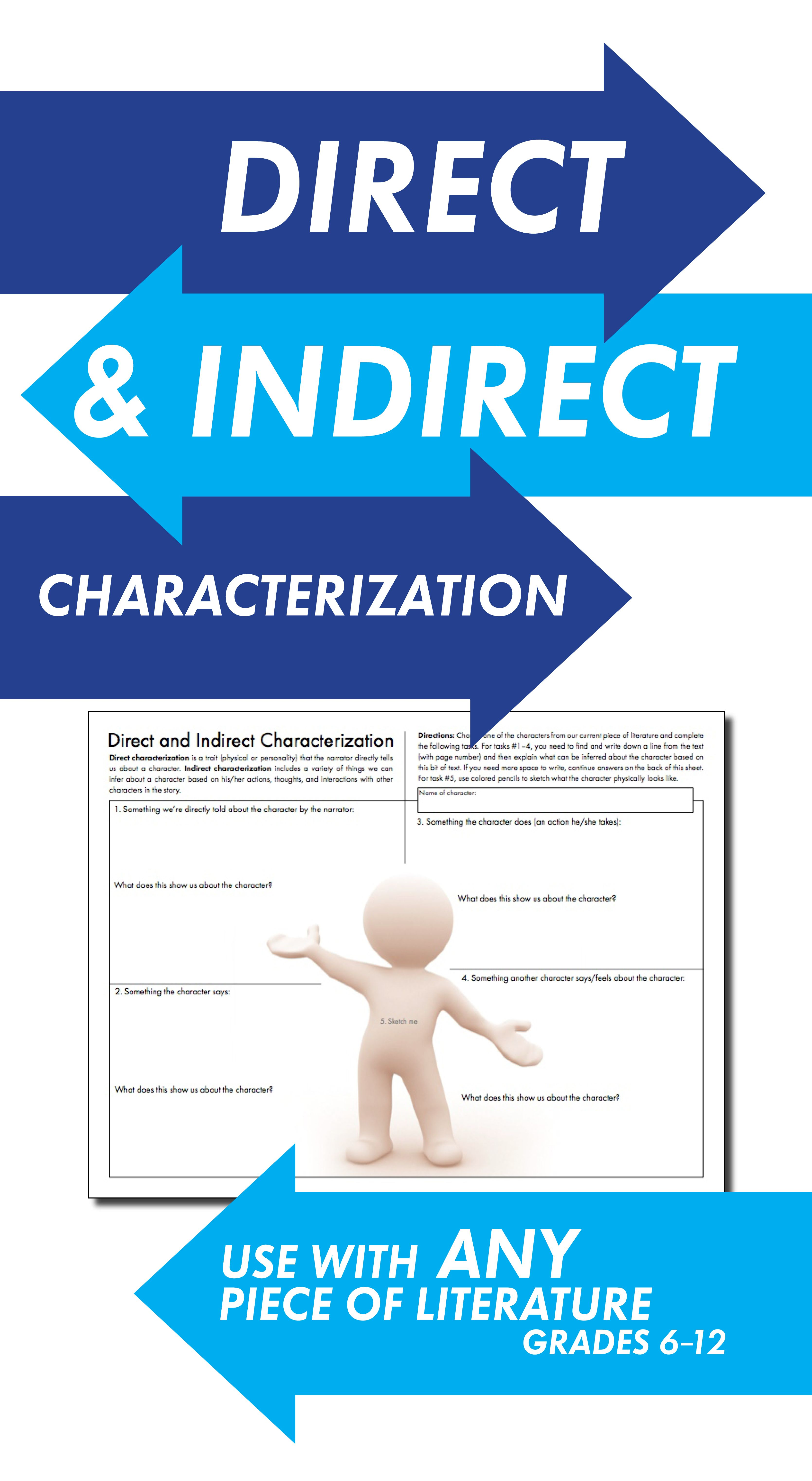 Best 25 Direct And Indirect Characterization Ideas