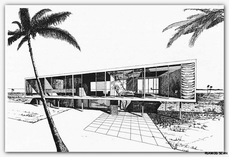 1960 Architectural Drawing & Rendering mid century modern