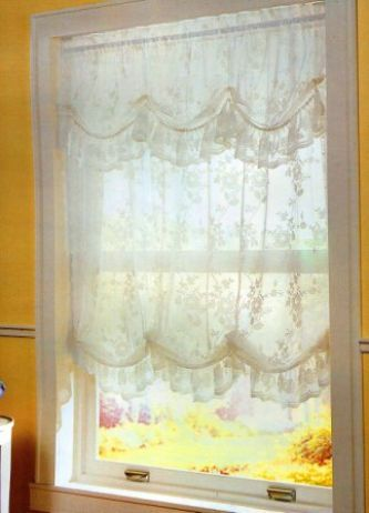 Alison Jacquard Lace Balloon Shade  Lace window