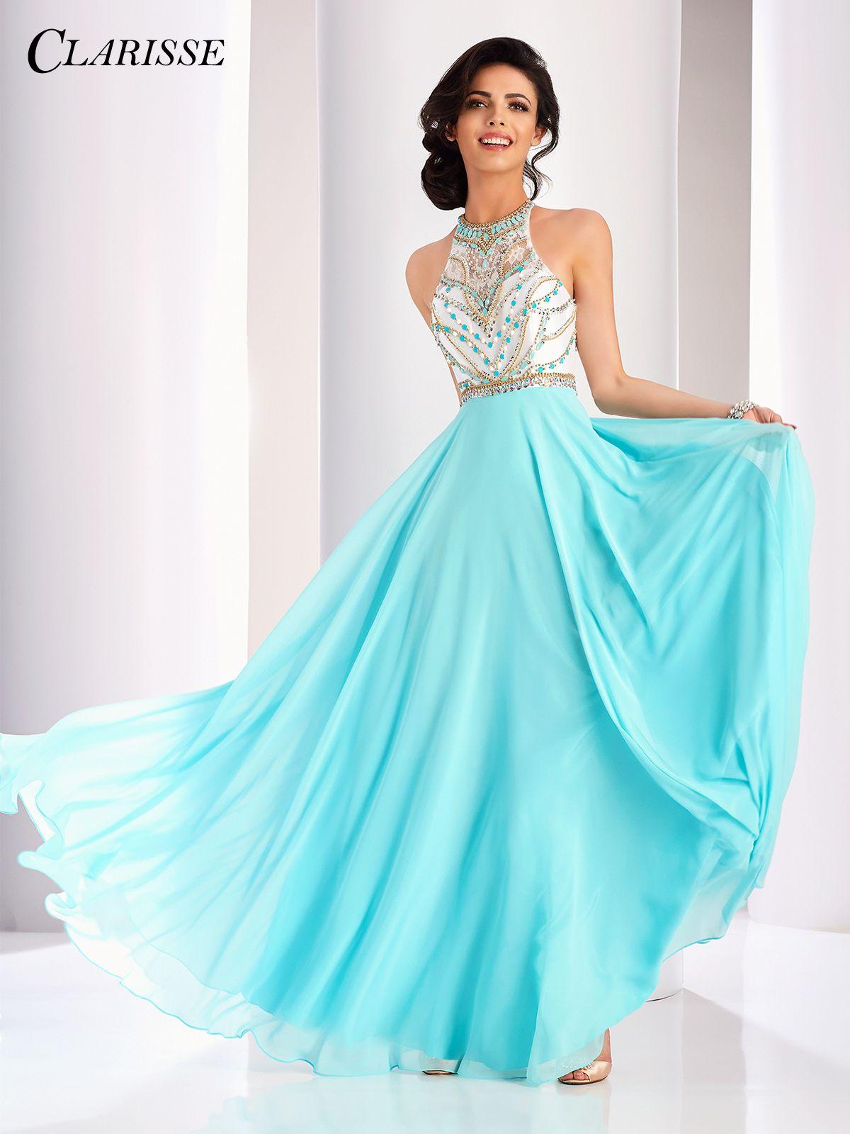 Clarisse Color Block Aline Prom Dress 3069  Unique