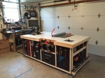 Rolling Table Saw Workstation Plans