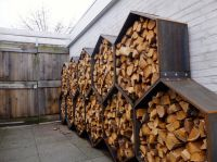 Octagon Outdoor Firewood Storage for behind the garage ...