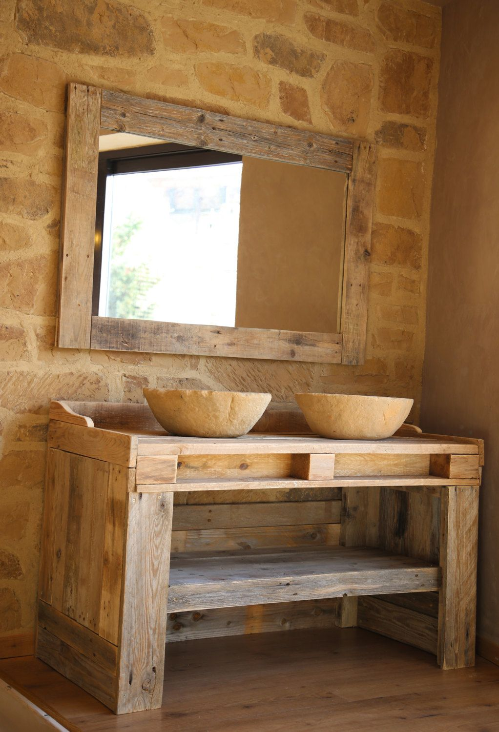 BATHROOM CABINET made from recycled pallet by
