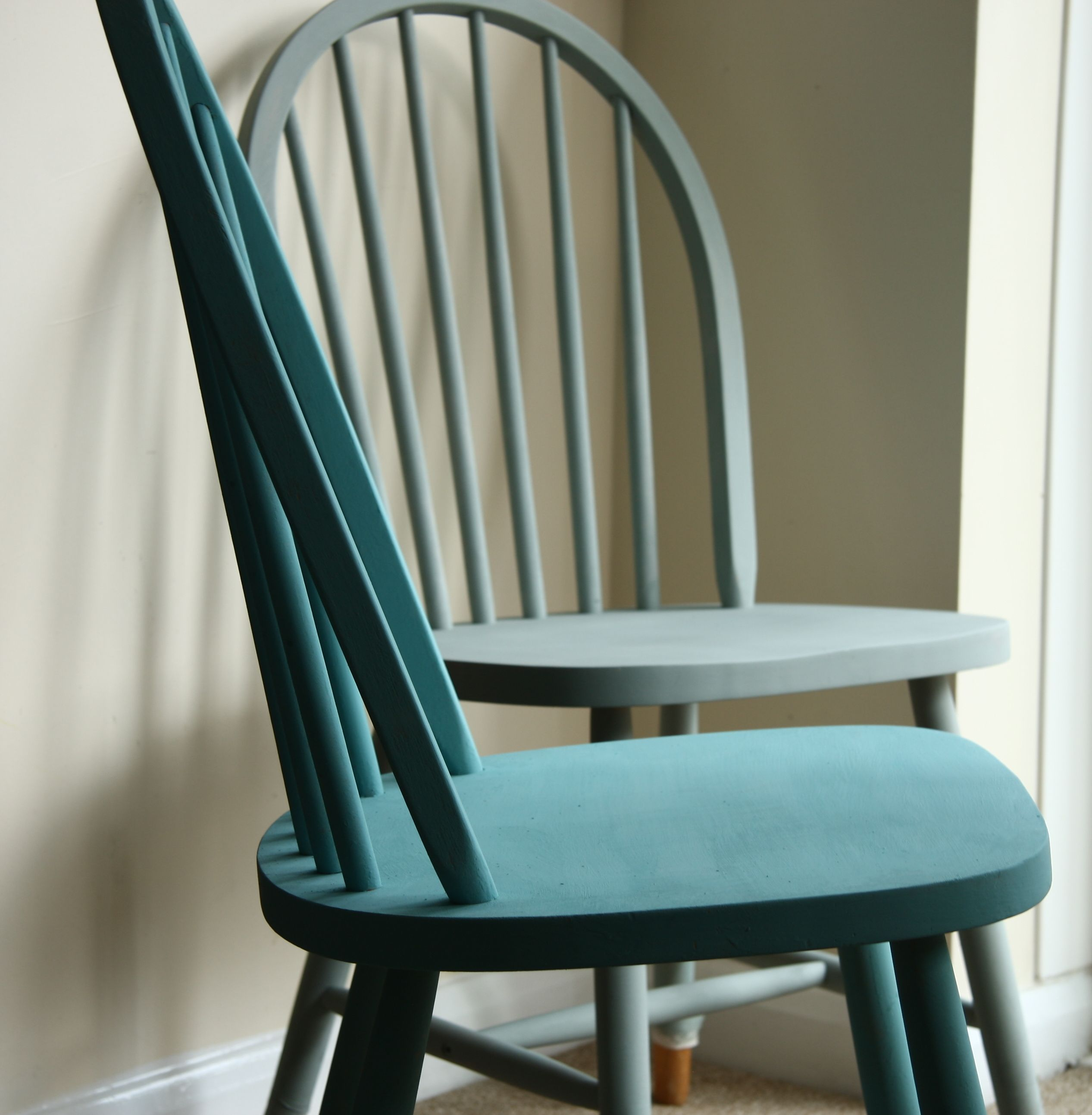 painted kitchen chairs supplies stores ercol in duck egg and provence blue