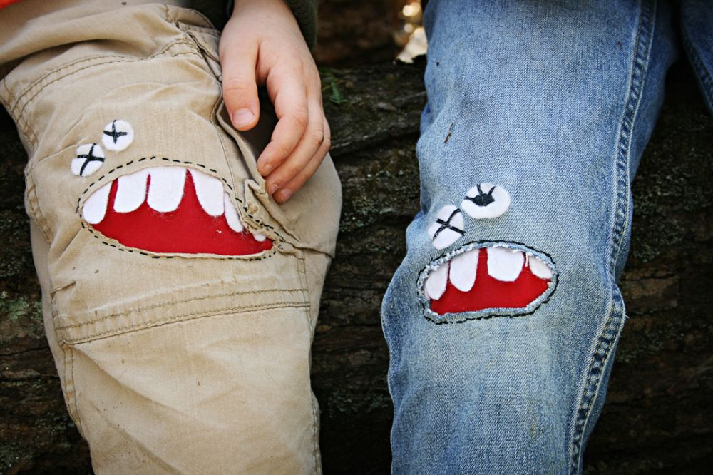 Tutorial Monster Knee Patches Clothes Pinterest