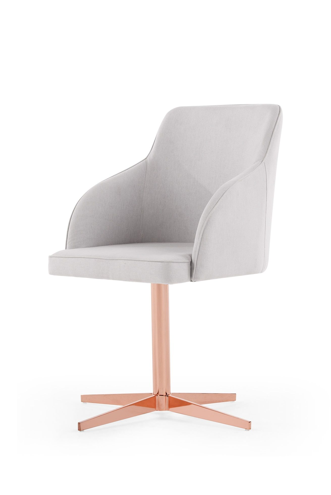 desk chair gold l hitchcock chairs keira office cloud grey and copper gray bedrooms