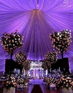 Purple wedding decorations  love the how ceiling looks also pin by mariana nasser on inspiration pinterest weddings rh