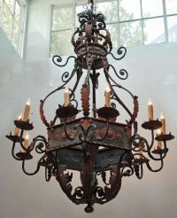 Large Wrought Iron Chandelier | Lanterns,Lamps,Chandeliers ...