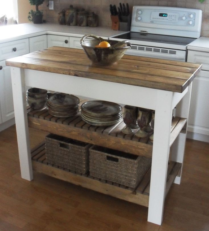 diy kitchen island -- $47 in materials although i'd probably extend