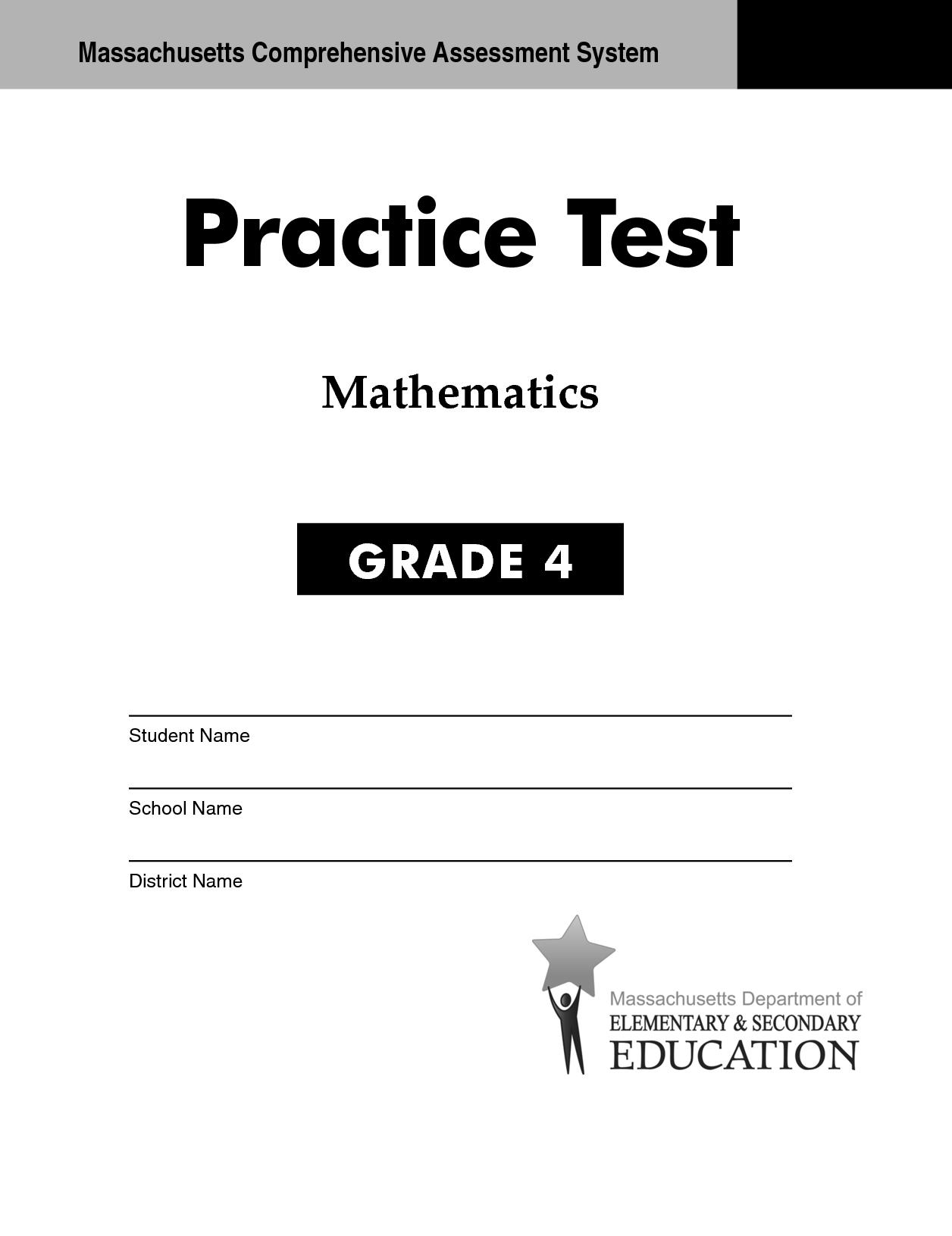 Mcas Mathematics Practice Test Grade 4