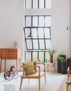 White walls floor wooden furniture plants large windows scandinavian via elle decoration also pin by wendy rommers on interior design pinterest window rh