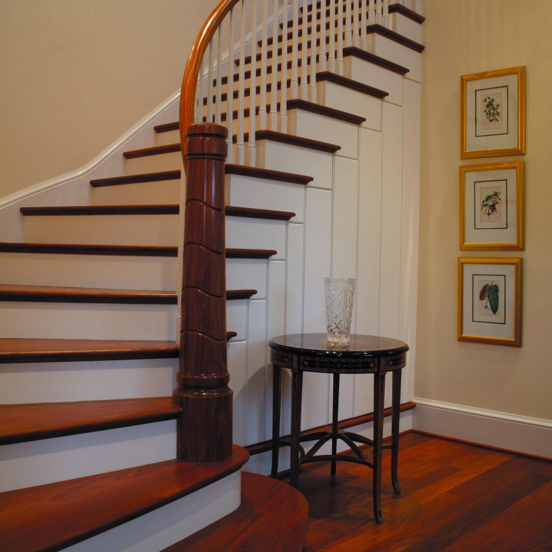 Alluring Design Idea Of Cool Staircase With Brown Wooden Treads