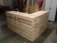 Pallet Desk Counter or Reception Desk | Pallet Furniture ...