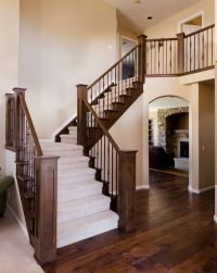 Image detail for -Stair Rail with Metal Balusters ...