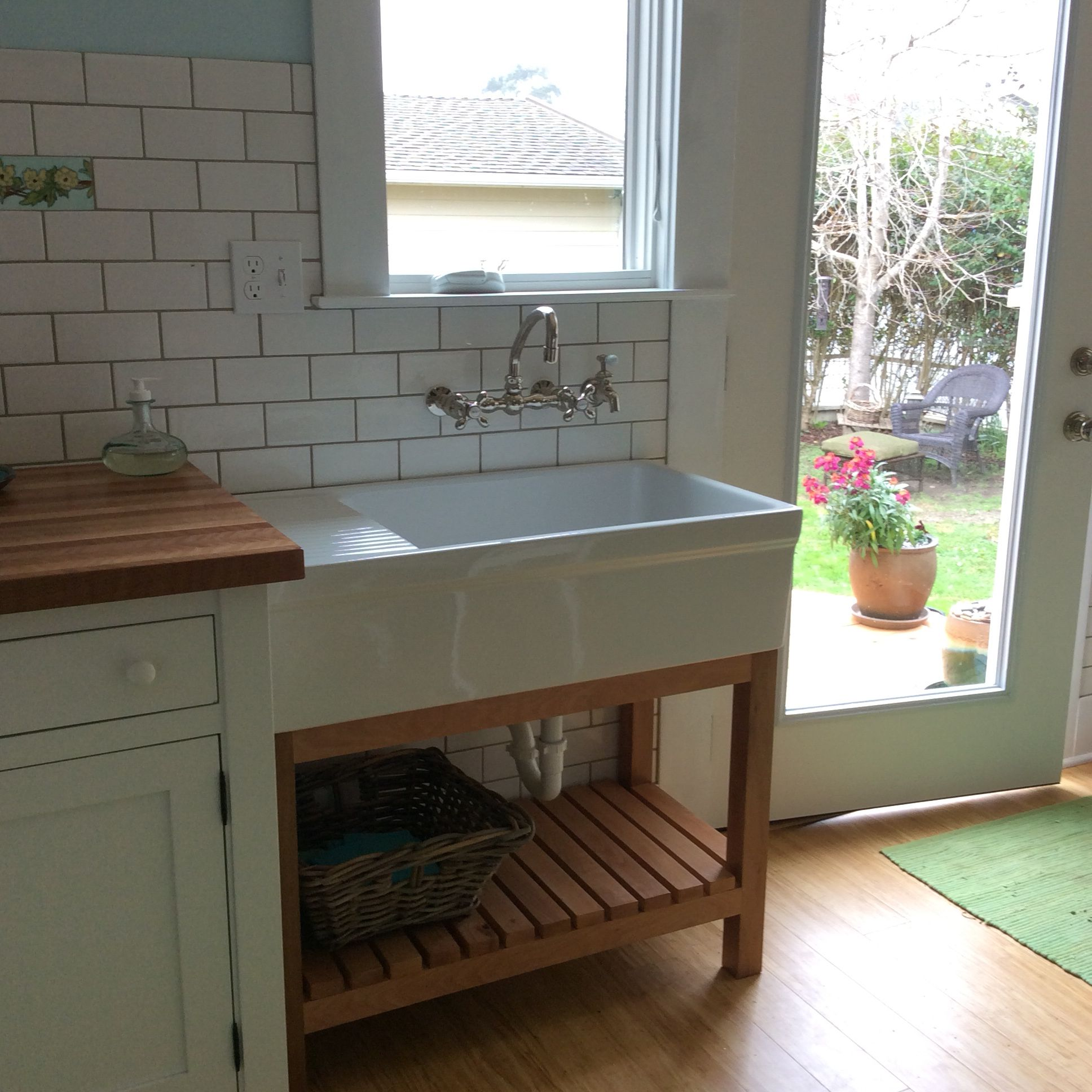 The Kitchen Sink In My Freestanding Unfitted Kitchen A