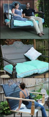 How To Build A Porch Swing From A Recycled Headboard http ...