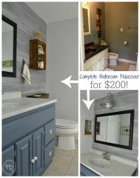 Vintage Rustic Industrial Bathroom Reveal | Budget ...