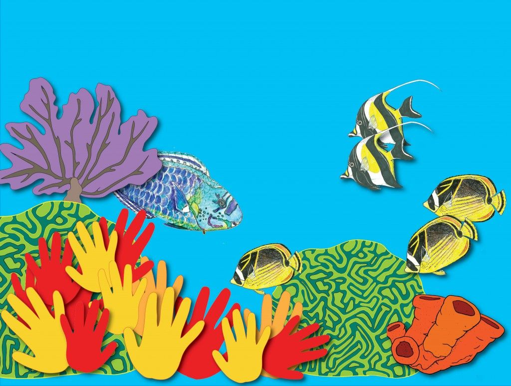 Build Your Own Coral Reef Mural Great For A Combo Of Art