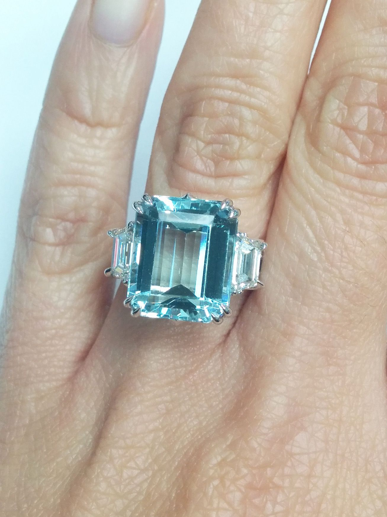 European Engagement Ring 730 CTW Large Emerald Cut