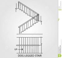 top-view-front-view-dog-legged-stair-staircase-58429937 ...