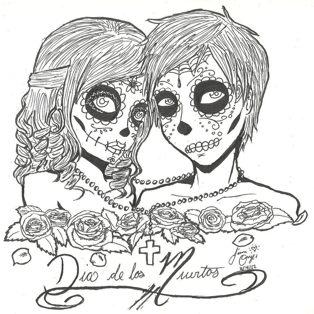 Colorings Co Dia De Los Muertos Girl Coloring Pages