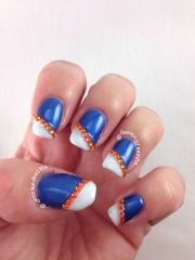 florida gator nail art sports