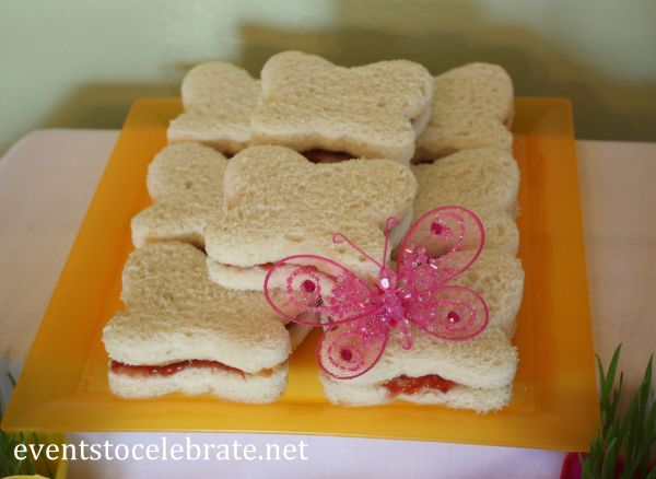 Butterfly-Shaped Sandwiches