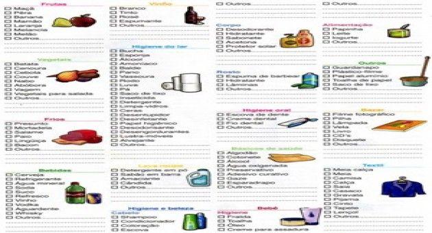 lista de supermercado completa