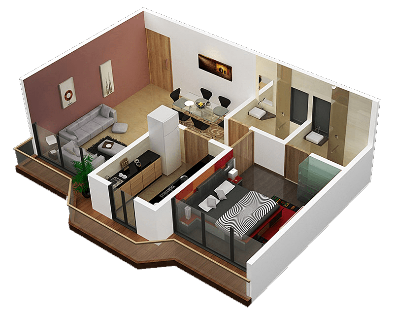 Plans For Small Apartment Interior Design 3 Sweet Home