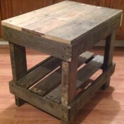 Build A Rustic Sofa Table Rattan Sleeper Sets Pallet Wood End Diy Pinterest The