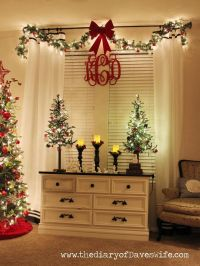 Decorating Curtains With Christmas Ribbon | Curtain ...