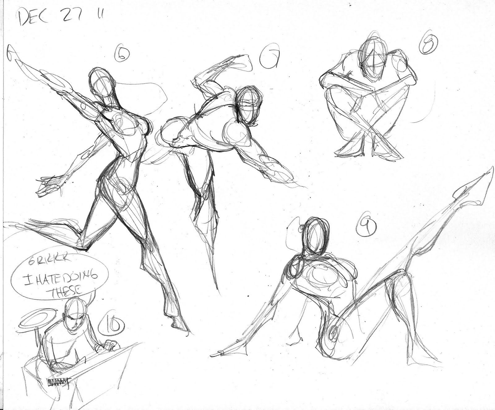 Landing Superhero Female Reference