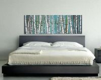 birch trees, birch tree painting, diptych, panoramic