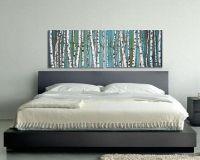 birch trees, birch tree painting, diptych, panoramic ...