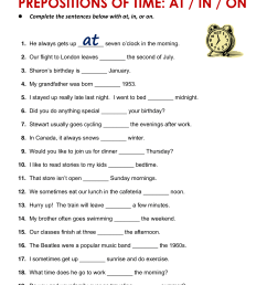 Prepositions Worksheet Notes   Printable Worksheets and Activities for  Teachers [ 2048 x 1536 Pixel ]