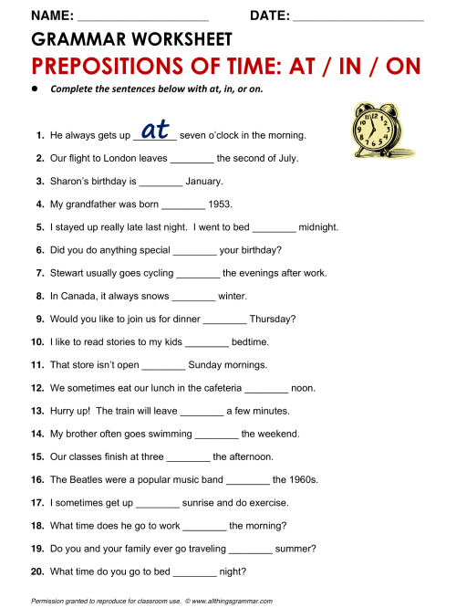 small resolution of Prepositions Worksheet Notes   Printable Worksheets and Activities for  Teachers