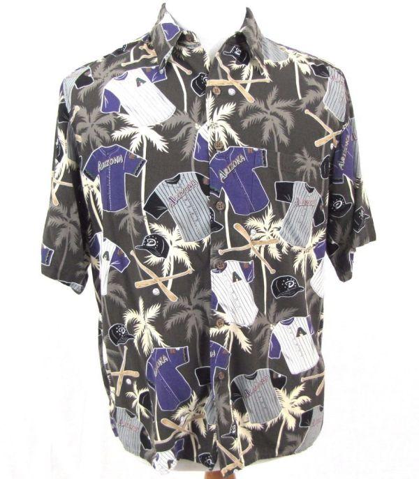Reyn Spooner Shirt Medium Arizona Diamondbacks Hawaiian