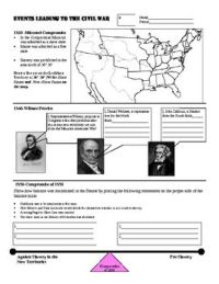 Events Leading to Civil War Graphic Organizer or Worksheet ...