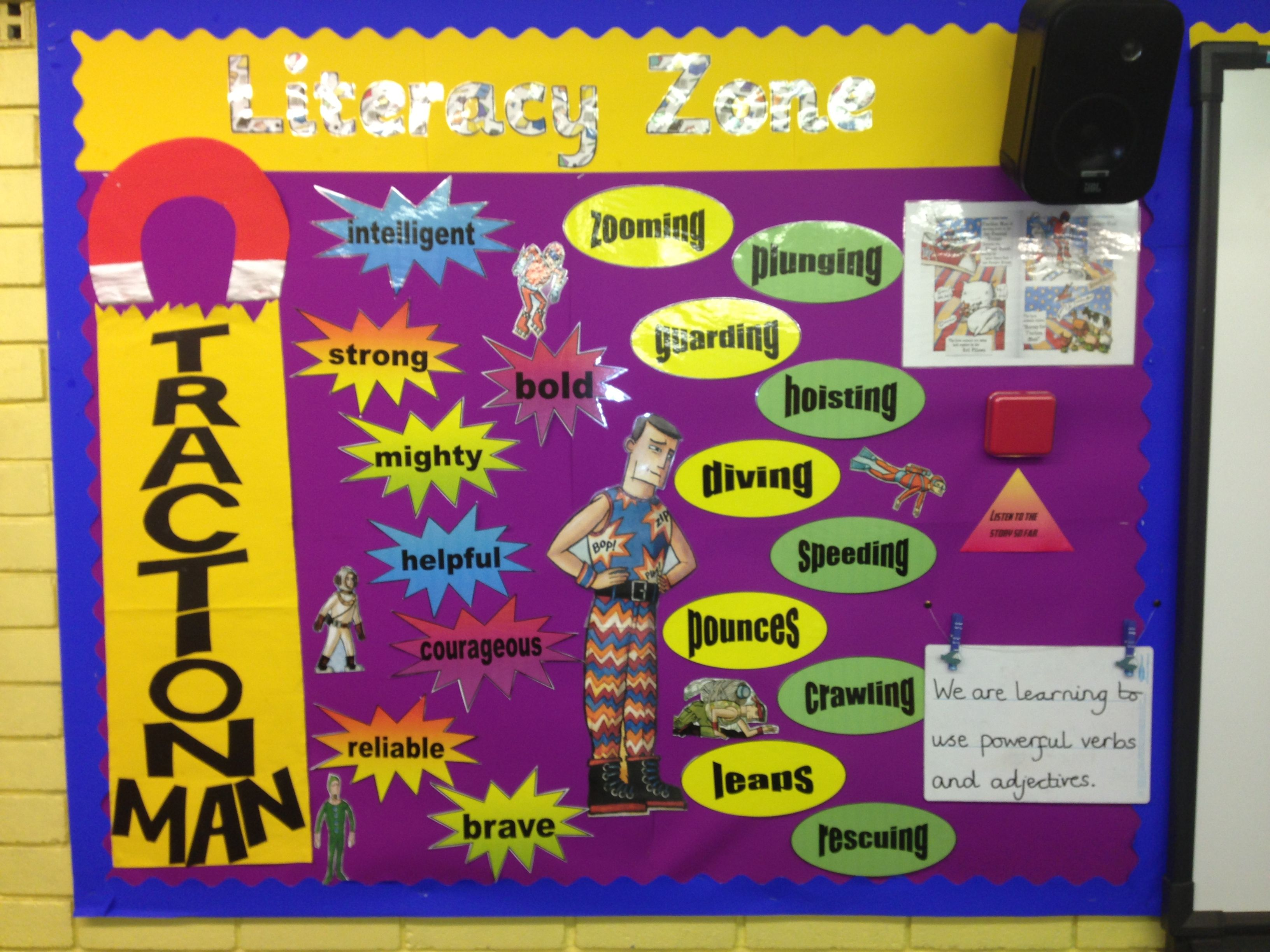 Traction Man Literacy Display