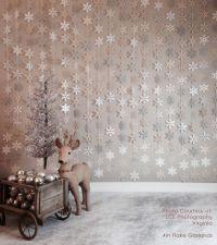 Paper Snowflake Garland Silver Ivory White Gray Neutrals ...