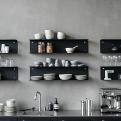 Modular Kitchen Wall Cabinets Pantries For Kitchens Black From Vipp With Matching Shelves On