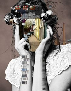 forms of diffrent objects that construct replace face features combination black and white photo image bright colors collage also  believe this is really unique unusual as it shows presents the rh pinterest