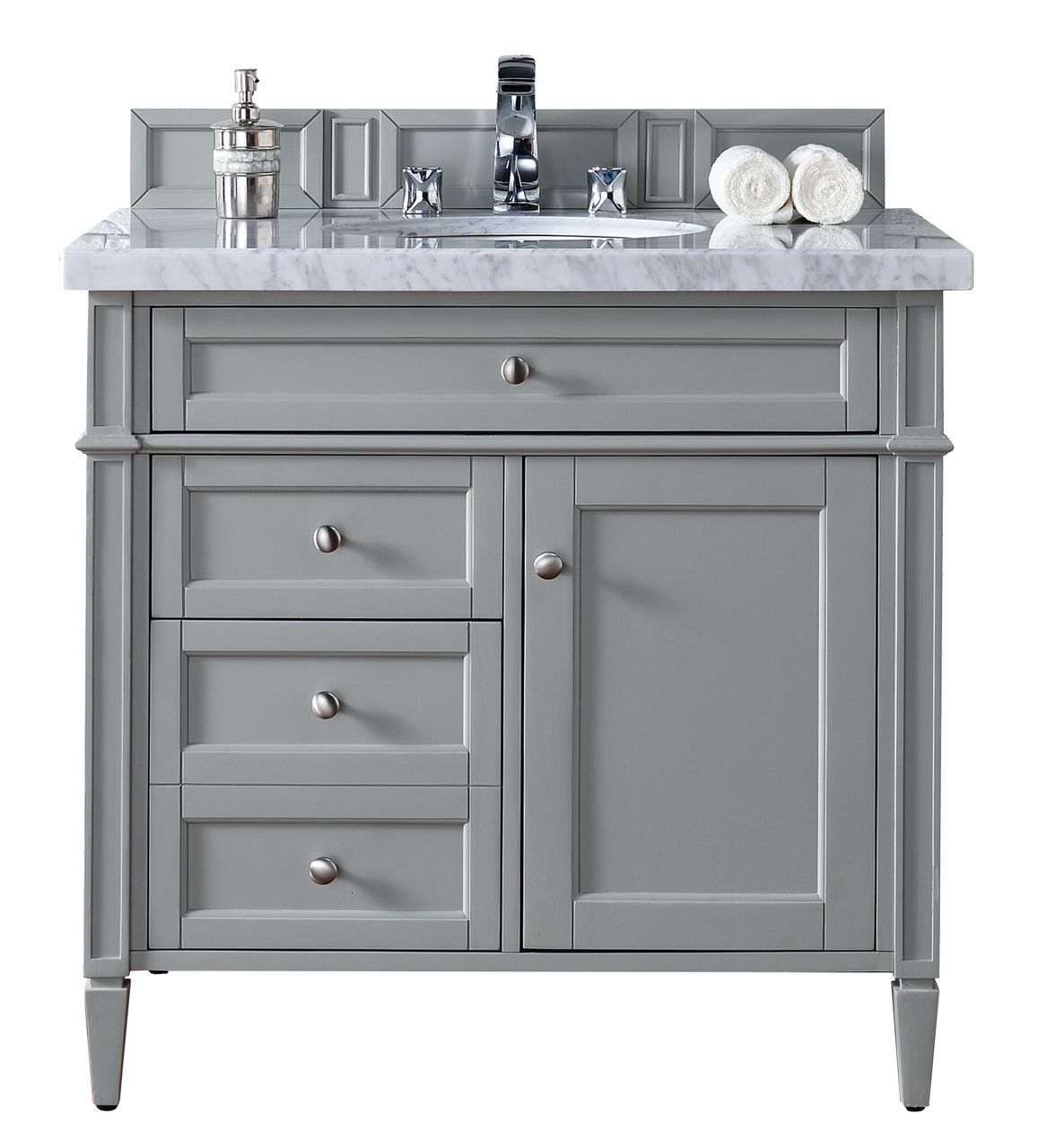 36 Brittany Single Bathroom Vanity Urban Gray  Grey