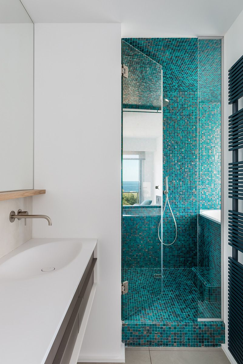 mosaque bleu turquoise  Salle de bain  Pinterest  Bleu turquoise Turquoise et Mosaique